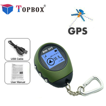 Topbox  Mini GPS Tracker Locator Finder Navigation Receiver Handheld USB Rechargeable with Electronic Compass for Outdoor Travel