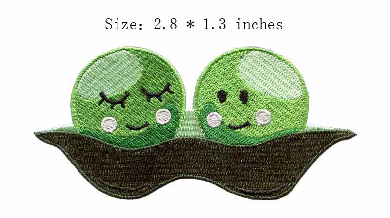 Arts,crafts & Sewing The Green Fruit Embroidery Patch 2.8wide/ /cute /smiling /shirt Patch