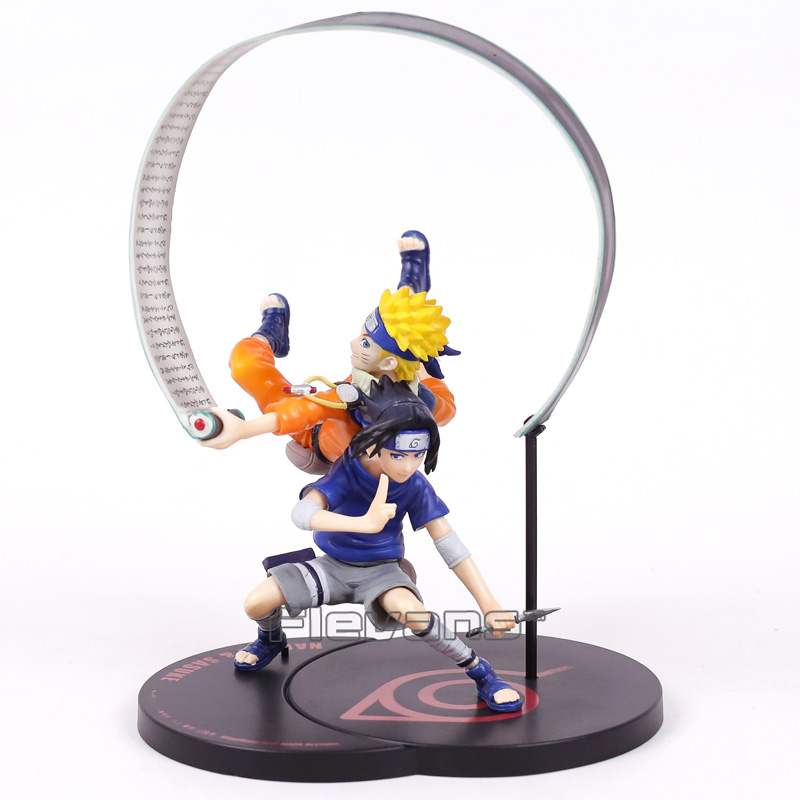 G.E.M Series Remix NARUTO Uzumaki Naruto & Uchiha Sasuke Non Scale Painted Figure Collectible Model Toy 18cm 100% original megahouse g e m remix complete figure uzumaki naruto