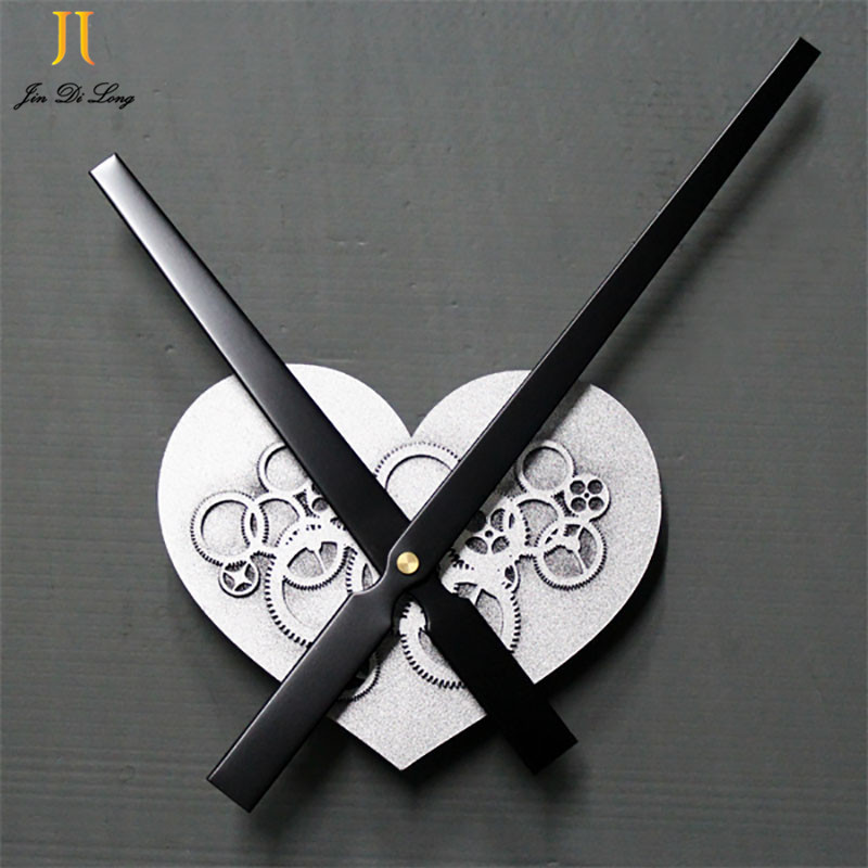 Us 1468 32 Off30cm Big Pointer Heart Shaped Gear Wall Clock Metallic Sweep Movement Diy Clock Retro Wooden Home Decoration Wall Clocks In Wall