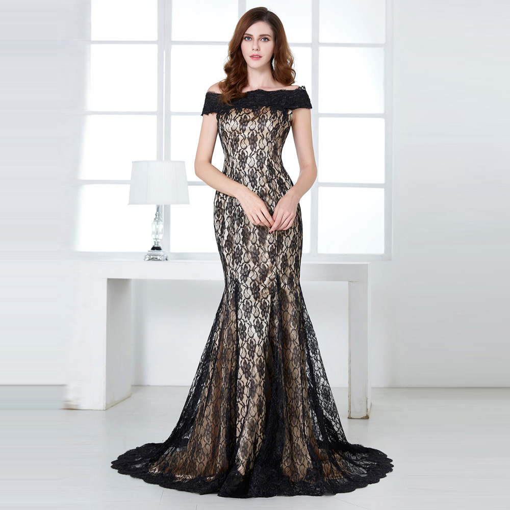 Grace Karin Mother Of The Bride Dresses For Wedding Party Boat Neck Lace Floor Length Groom Formal Evening Gowns Occasion Dress 5