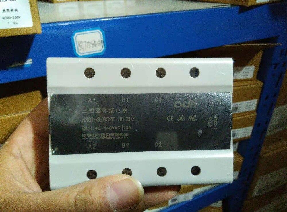 Tout nouveau original authentique c-lin HHG1-3/032F-38 25Z triphasé DC contrôlé AC SSR-DA relais à semi-conducteurs 25A