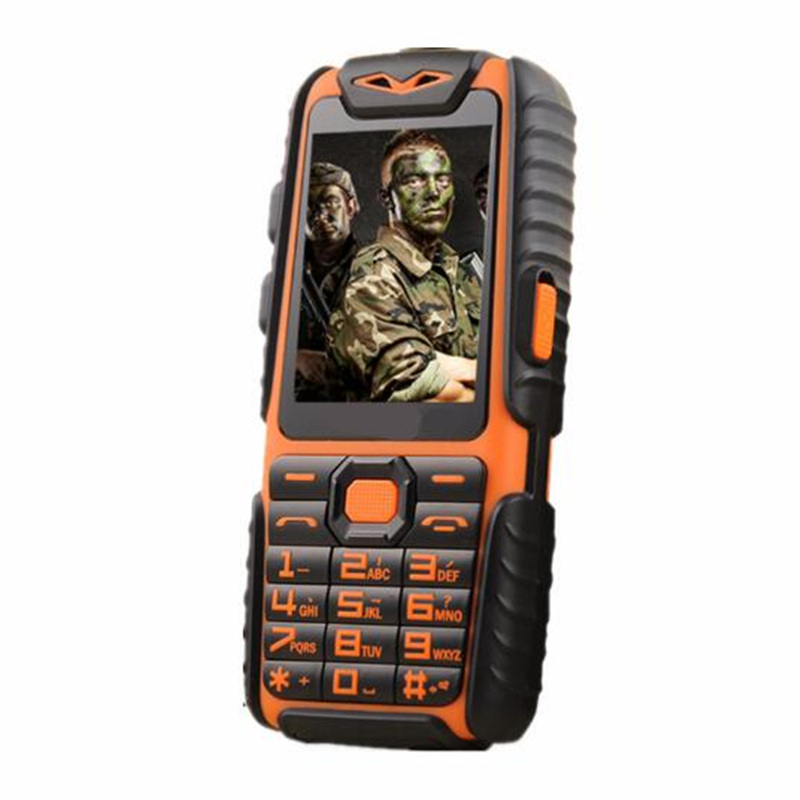 gift Long Standby Army Phone A6 Shockproof Dustproof Mobile Power Bank Phone Dual Sim Cell Phone