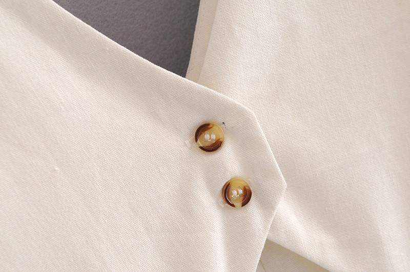 a720e91d67a ... elegant ruffless white linen dress women sleeveless backless bow midi  dress Summer pocket Casual dress 2018 ...