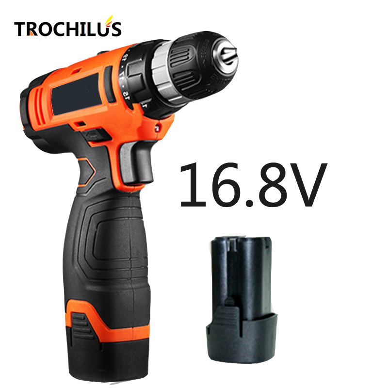 High quality 16.8V Cordless Electric drill multi-function electric tool mini drill screwdriver with lithium battery * 2 high quality screwdriver combination set unique telescopic function
