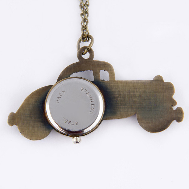 #5001Antique Bronze Classic Cars Design Pendant Pocket Watch Necklace Gift DROPSHIPPING New Arrival Freeshipping Hot Sales