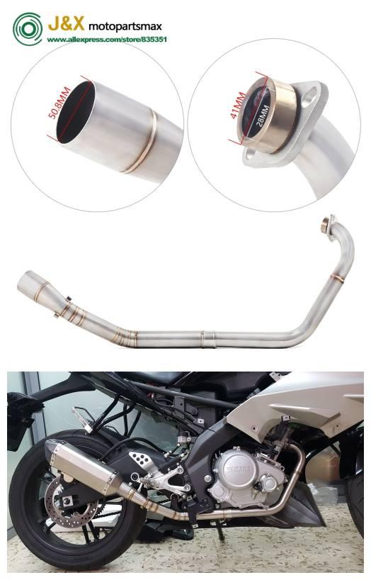 Motorcycle Modified Full System Connecting pipe for YAMAHA YZF R15 MT-15  MT15 YZF15 V2 V3 YZF-R15 V2 V3