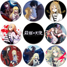 1pcs Anime Angels of Death Cosplay Badge Cartoon Rachel Gardner Ray Brooch Pins Zack Collection bags Badges for Backpacks(China)