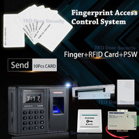 1000 Fingers Cheap Biometric Access Control&Time Attendance Device Home Security Control System EM Electromagnetic Lock