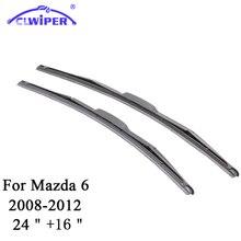 CLWIPER Wiper Blades For MAZDA 6 (2008-2012)2009 2010 2011 Car Windscreen Wiper Windshield Wiper Blade 16″+24″