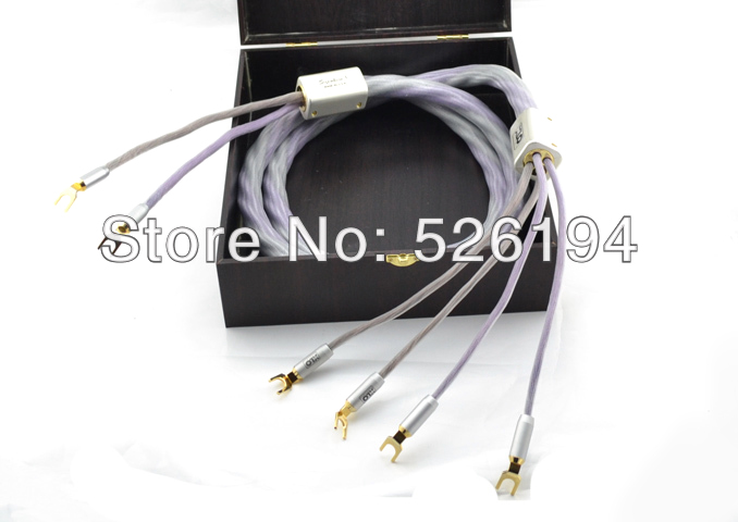 Free shipping 2.5M/pair XLO Signature 3 Speaker Cables Y spade connectors audio loudspeaker speaker hi fi speaker cables pair