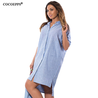COCOEPPS 2017 Summer Irregular Solid Dress Big Size Loose Women Dress Casual Large Size Ladies Clothing