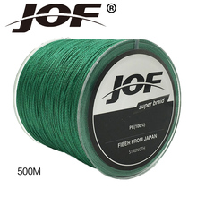 JOF Brand 500M PE Braided font b Fishing b font Line 4 stands 4LB 150LB Multifilament