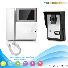 Hand held wall mount digital 4.3″ colorful doorbell screen monitor with IR night vision HD waterproof outdoor camera intercom