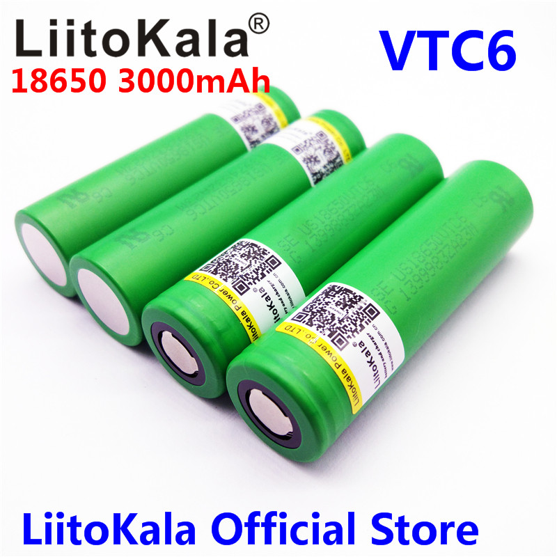 4pcs Liitokala New 100% Original 3.6V US18650 VTC6 3000mAh 30A Discharge E-Cig Battery For Free shipping!! 20pcs free shipping schottky s30d40c common cathode 30a 40v new original