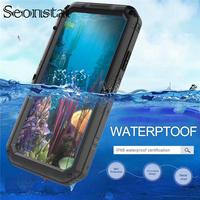 For iPhone XR IP68 Real Waterproof Metal Phone Case For iPhone X 8 7 Plus 6 6S Plus Shockproof Underwater Cases For iPhoneXS Max
