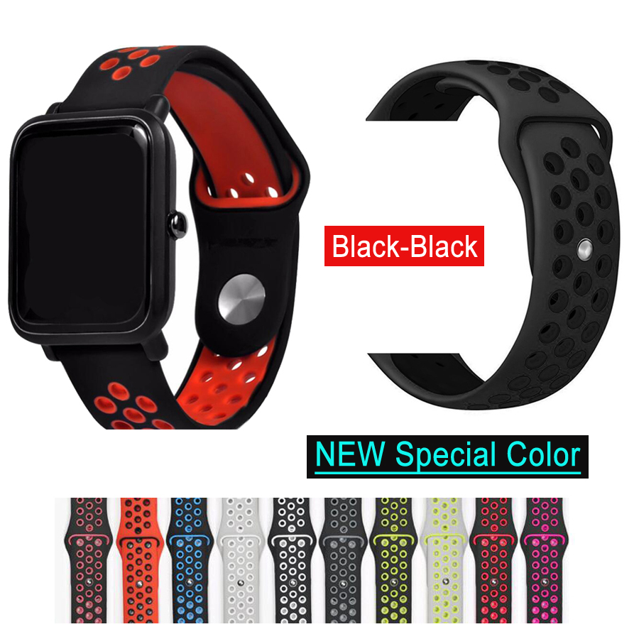 Silicone Strap Bracelet For Huami Amazfit Bip Strap Watch Band 20mm For Xiaomi mijia quartz Garmin Forerunner 645 Vivoactive 3(China)