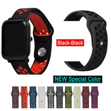 Siliconen Band Armband Voor Huami Amazfit Bip Band stratos tempo Voor Amazfit gts gtr 47mm Voor Huawei Horloge GT2 wrist Strap Band(China)