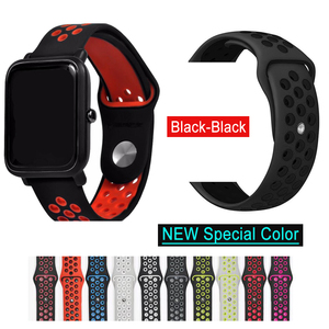 Silicone Strap Bracelet For Huami Amazfit Bip Strap stratos pace For Amazfit gts gtr 47mm For Huawei Watch GT2 Wrist Strap Band(China)