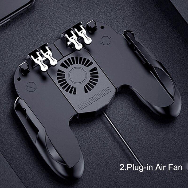 Image 4 - Контроллер для игровых приставок триггер кулер охлаждающий вентилятор Fire PUBG мобильный игровой контроллер Джойстик металлический L1 R1 триггер игровой аксессуар-in Геймпады from Бытовая электроника