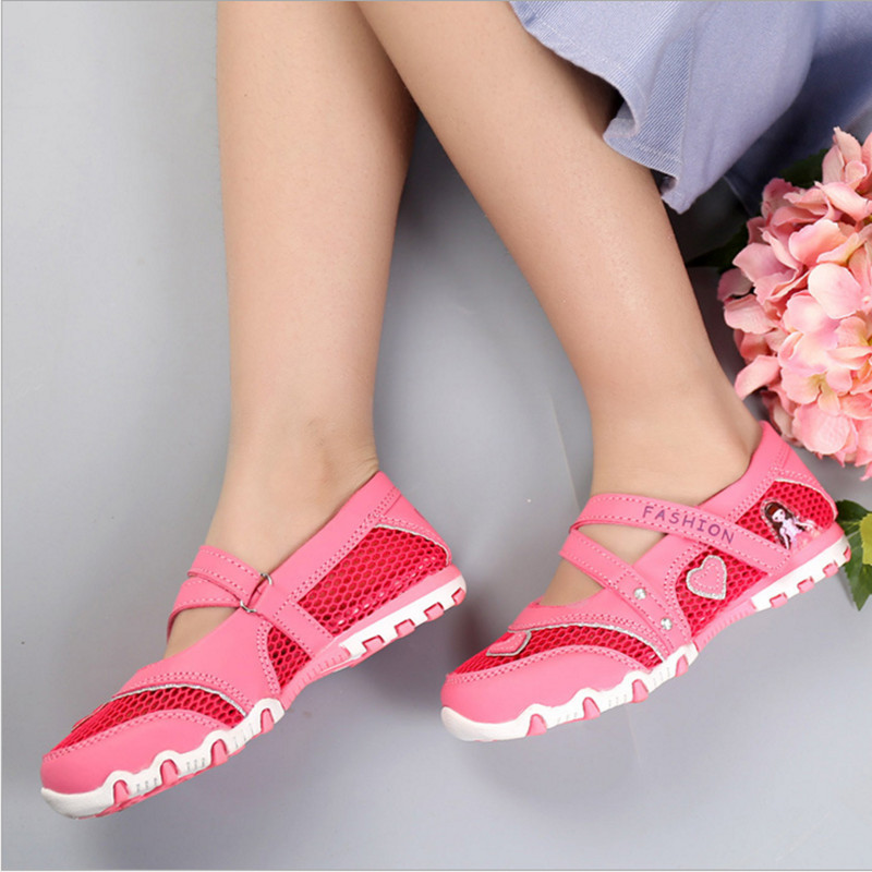 Melissa shoes for girls Sequin Shoes Children Shoes Spring 2018 Fashion Breathable Hook - Loop Kids Princess Shoes Casual 26-37