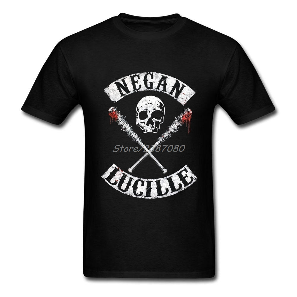 2017 New Negan Lucille T Shirt For Men Cotton Plus Size Short Sleeve The Walking Dead T-shirts