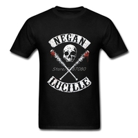 2017 New Negan Lucille T Shirt For Men Cotton Plus Size Short Sleeve The Walking Dead