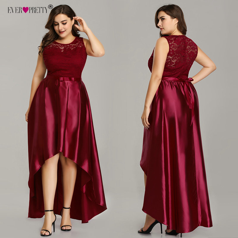 Plus Size Prom Dresses 2019 Ever Pretty Cheap Satin