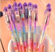 Корея канцелярские 6 цветов в 1 пера многоцветная радуга ручка гелевая красочные маркер ручка студенты акварель маркер