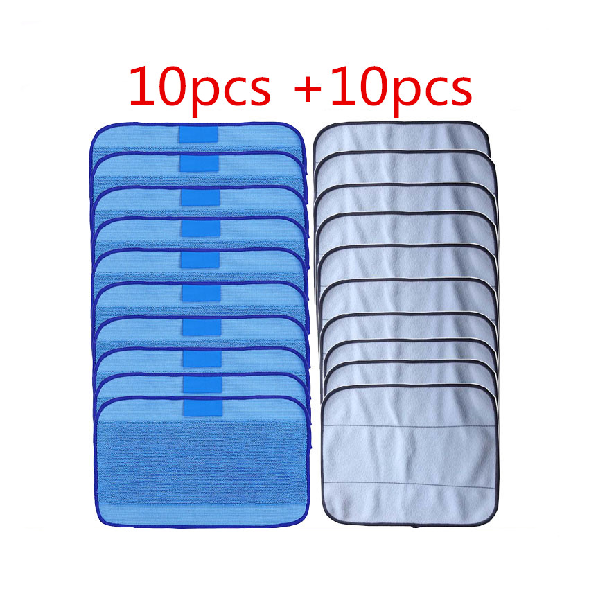 20pcs/lot Mixed Microfiber 10pcs Mopping Cloths wet + 10 pcs dry for iRobot Braava 380 380t 320 Mint 4200 4205 5200 5200C philips brl130 satinshave advanced wet and dry electric shaver