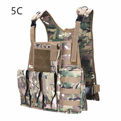 Camouflage Hunting Military Tactical Vest Wargame Body Molle Armor Hunting Vest CS Outdoor Jungle Equipment