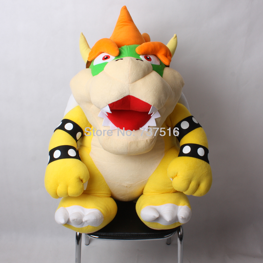 New Arrived Super Mario Brothers Biggest Bowser Jr./Koopa Plush 30 Big Rare Handmade Plush Animals Toys