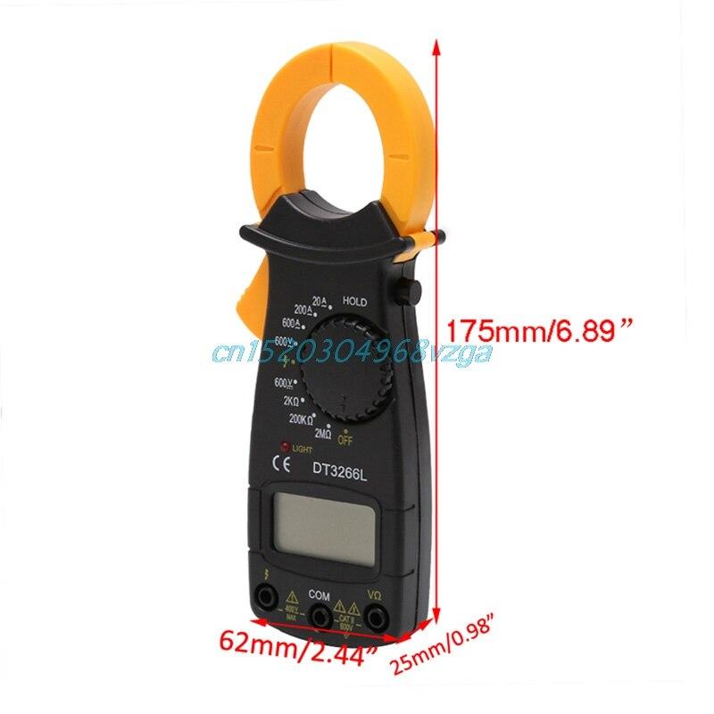 Digital Clamp Meter Multimeter Voltage Current Resistance Tester DT3266L #H028# clamp multimeter dt3266l lcd display digital multimeter handle ac voltage current resistance tester dt3266l multimeter tester