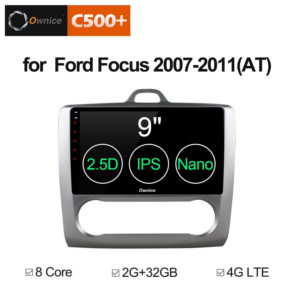 Ownice C500+ G10 Android 8.1 Octa 8 Core 2G RAM For Ford FOCUS 2007 2008 2009 2010 2011 Car Radio DVD Navi GPS Support 4G LTE 10 1 ownice c500 g10 octa 8 core android 8 1 car dvd gps player for toyota tundra 2007 2013 sequoia 2008 2018 stereo radio