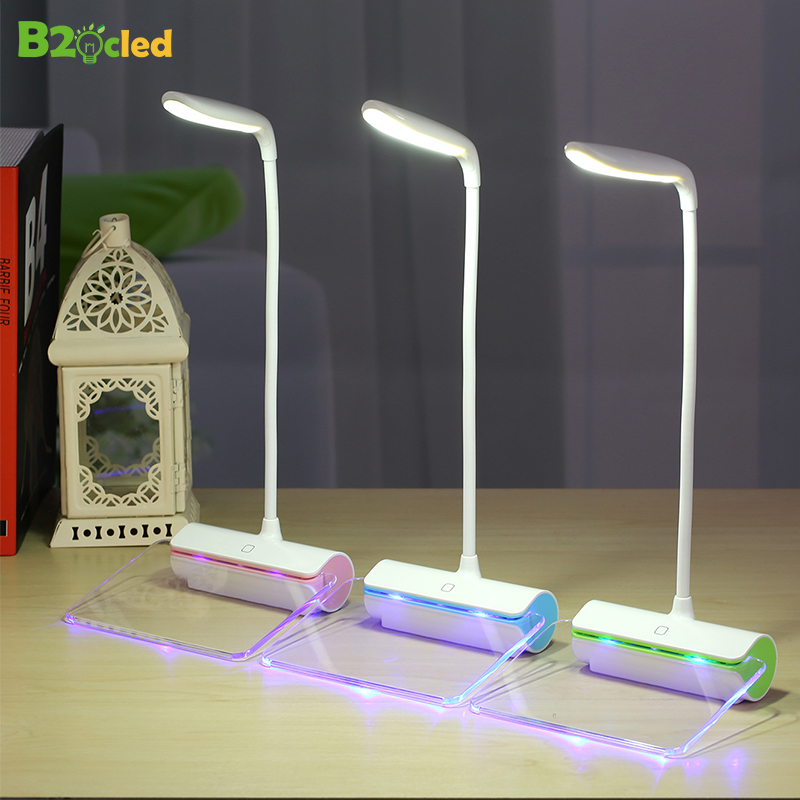 Flexible Arbitrary bending Creative message board LED desk lamp night 3-in-1 USB Charging light table gift