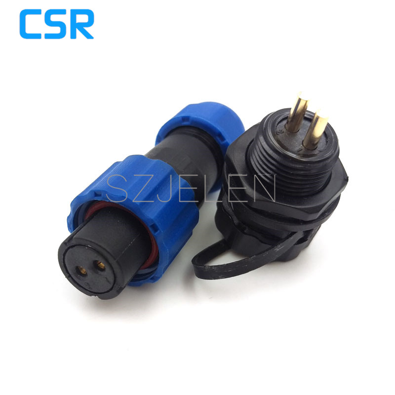 SD13, 2-pin plug connector waterproof and dustproof (female) socket (male), LED power cable connector, 2 pin car connector, IP68 stage light led power cable plug neutrik type powercon nac3fca nac3fcb 3 pin professional audio power plug connector