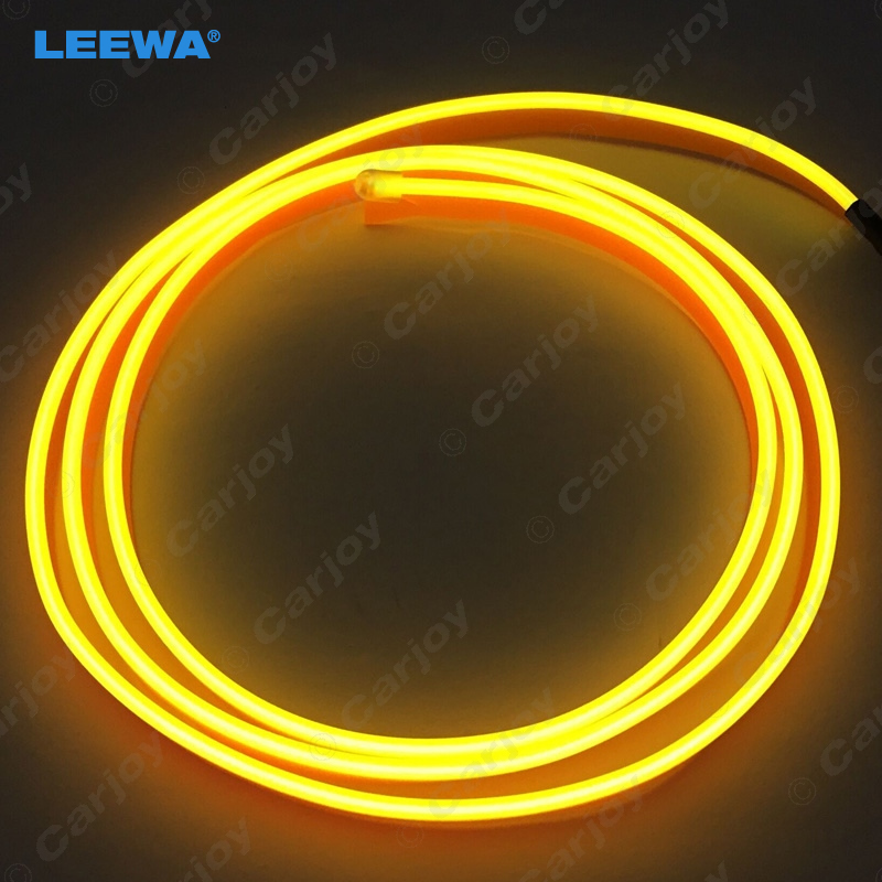 40pcs 1M 9 color Flexible Moulding EL Neon Glow Lighting Rope Strip With Fin For Car