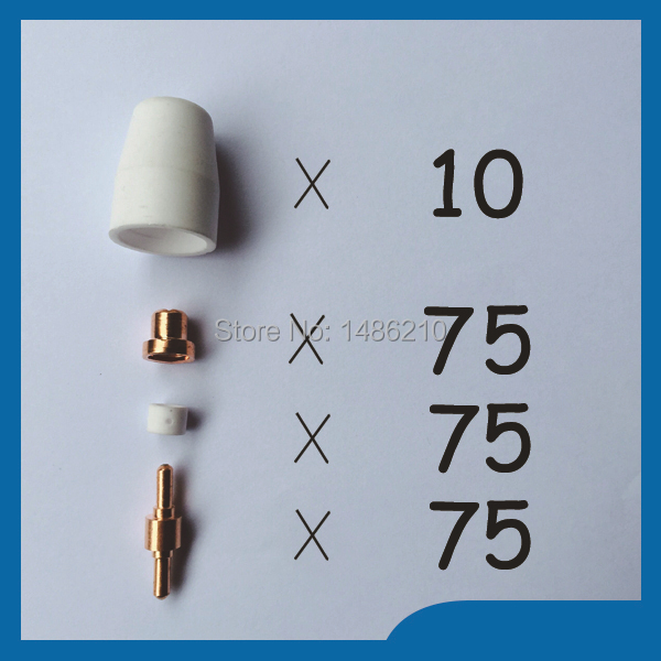 ФОТО PT31 LG40 Air Plasma Cutter Consumables KIT Plasma Nozzles TIPS Fit Cut40 50D CT312,235PK