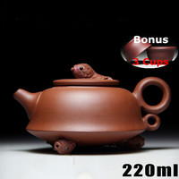 Hot 220ml Yixing Teapot Cups Set Bonus 3 Cups Handmade Tea Pot Chinese Tea Ceremony New