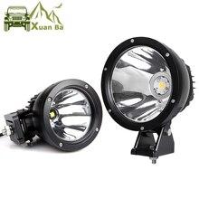 2 adet 7 inç 50W Led çalışma ışığı 12V 24V AVT Offroad 4x4 kamyon motosiklet far Spot çalışma sürüş Spot ışıkları