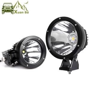 Image 1 - 2Pcs 7 inch 50W Led Arbeit Licht Für 12V 24V AVT Offroad 4x4 Lkw motorrad Scheinwerfer Scheinwerfer Arbeits Fahren Spot Lichter