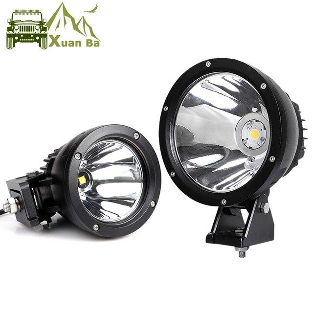 2Pcs 7 inch 50W Led Work Light For 12V 24V AVT Offroad 4x4 Trucks Motorcycle Headlight Spotlights Working Driving Spot Lights