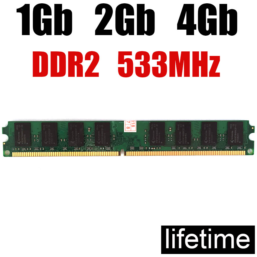 RAM 8Gb Memory DDR2 533 4Gb 2Gb DDR 2 1 Gb / For PC RAM 1Gb Ddr2 533MHz 8G 4G 2G 1G 800MHZ 800 667 ( For Intel & For Amd )