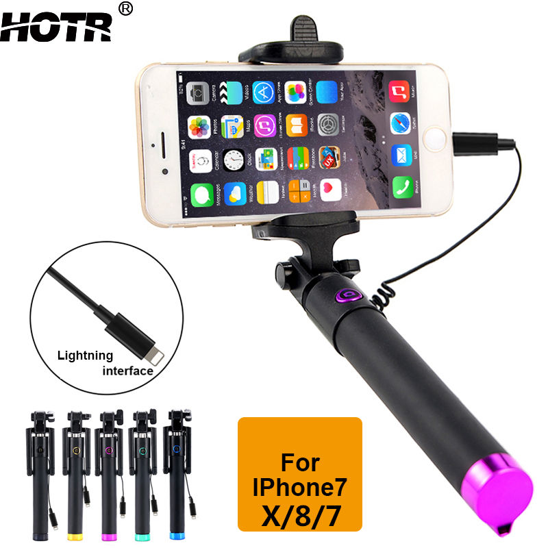 for iphone X/8/7 Selfie Stick for iphone 8 plus 7 plus Palo Selfie for Apple 6 6s plus 5s 4s Handheld Mobopod Para Selfie Wired статуэтка африканка 7 8 32см 1096506