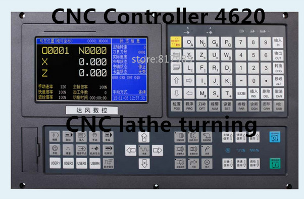 2 axis CNC lathe controller CNC turning machine CNC4620 controller system with MPG handwheel pulse lathe CNC controller handy pulser mpg handwheel 4 axis 100ppr 5v 15v manual pulse generator use for fanuc fagor cnc system with cable