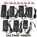 Nova 12 V/24 V 2A/3A/4A/5 V/6A/8A/10A AC 100 V-240 V Converter Power Adapter Transformador de Alimentação para 5050 3528 5630 LED Strip Luz