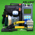 KELUSHI 20 in 1 Fiber Optic FTTH Tool Kit with FC-6S Fiber Cleaver ,Optical Power Meter ,10km Visual Fault Locator Wire stripper