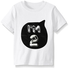 Summer Baby Clothes T-shirt Tops Girl Boys 1 2 3 4 Year Birthday Outfit