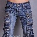 2015 мужские известный дизайнер энтони K любви джинсы свободного покроя карманы брюки человек мода Clubwear W30 32 34 36 38 L32 J002