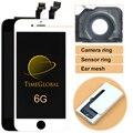 1 pcs clone display lcd digitalizador para iphone 6 4,7 polegadas tela de toque digitador assembléia + anel da câmera, freeshipping
